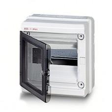 Бокс герметичный АВВ EUROPA IP65 (8модулей) навесной пластиковый серый с прозрачной дверью