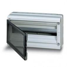 Бокс герметичный ABB EUROPA IP65 (18модулей) навесной пластиковый серый с прозрачной дверью