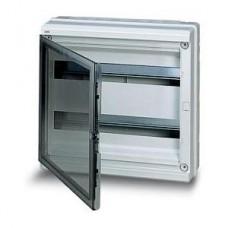 Бокс герметичный ABB EUROPA IP65 (36модулей) (2*18М)навесной пластиковый серый с прозрачной дверью