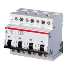 Автоматический выключатель ABB S294 C80 четырёхполюсный трёхфазный