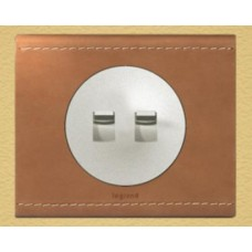Legrand Celiane выключатель (переключатель) двухклавишный (рычажок) белый