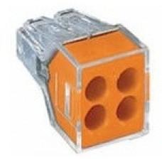 Клеммники wago 773 324 на 4 пр. 1,0-2,5 мм2, без пасты.