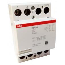 Модульный контактор АВВ ESB-40-40 40A кат 220V 4НО