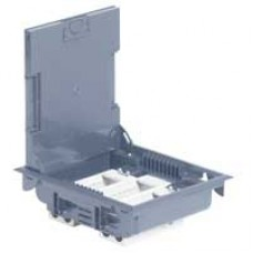 Напольная коробка с глубиной 75-105 мм 12 модулей -антикоррозийное покрытие -