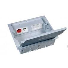 Напольная коробка с глубиной 75-105 мм 12 модулей - под покрытие - серый RAL