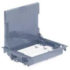 Напольная коробка с глубиной 75-105 мм 24 модуля - под покрытие - серый RAL 7
