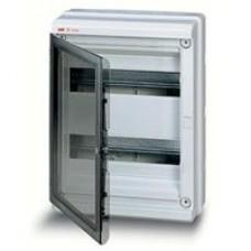 Бокс герметичный АВВ EUROPA IP65 (24модуля) навесной пластиковый серый с прозрачной дверью