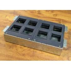 BOX/8 Коробка с суппортами для люка в пол на 8 модулей (45х45мм), для заливки в бетон, сталь