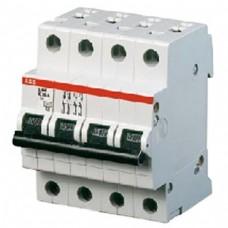 Автоматический выключатель ABB S284 C80 четырёхполюсный трёхфазный