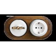 Ретро розетки и выключатели для открытой проводки