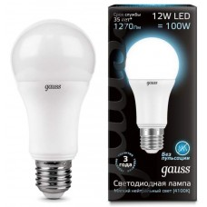 Лампа Gauss LED A60 globe 12W E27 4100K
