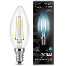 Лампа Gauss LED Filament Candle E14 5W 4100К