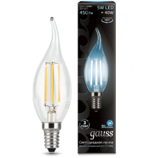 Лампа Gauss LED Filament Candle tailed E14 5W 4100K