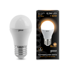 Лампа Gauss LED Globe E27 6.5W 2700K
