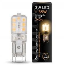 Лампа Gauss LED G9 AC220-240V 3W 2700K пластик
