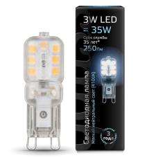Лампа Gauss LED G9 AC220-240V 3W 4100K пластик