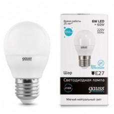 Лампа Gauss LED Elementary Globe 6W E27 4100K