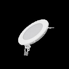 Светодиодный встраиваемый светильник Gauss ультратонкий круглый IP20 6W 2700K