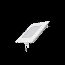 Светодиодный встраиваемый светильник Gauss ультратонкий квадратный IP20 6W 2700K