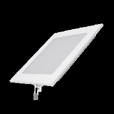 Светодиодный встраиваемый светильник Gauss ультратонкий квадратный IP20 15W 2700K