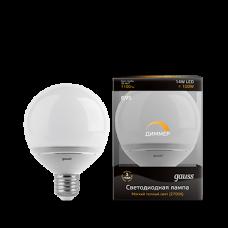 Лампа Gauss LED G95-dim 14W E27 2700K диммируемая