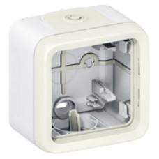 Коробка для накладного монтажа с мембранными сальниками Plexo белый 1 пост