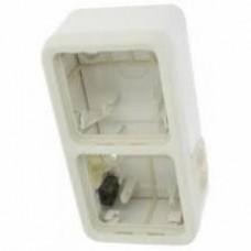 Двухместная монтажная коробка Plexo белый 2 поста - горизонтальная установка