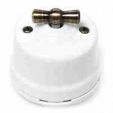 Выключатель 2-х позиционный для наружного монтажа проходной белый Salvador
