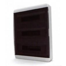Щит навесной 54 мод. IP40, прозрачная черная дверца