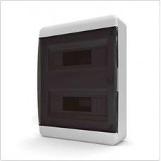 Щит навесной 24 мод. IP40, прозрачная черная дверца