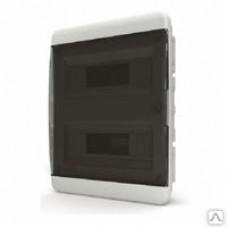 Щит встраиваеный 24 мод. IP40, прозрачная черная дверца