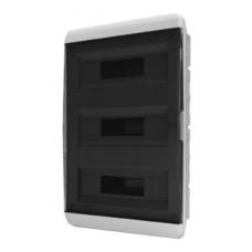 Щит встраиваеный 54 мод. IP40, прозрачная черная дверца