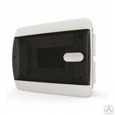 Щит встраиваеный 8 мод. IP40, прозрачная черная дверца