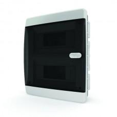 Щит встраиваеный 18 мод. IP40, прозрачная черная дверца