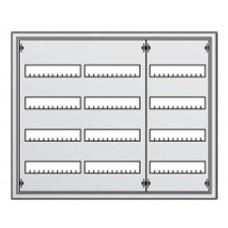 Щит металлический распределительный навесной АТ 43 Е АВВ (144 модуля) 674х824х140мм 3 ряда по 4рейки