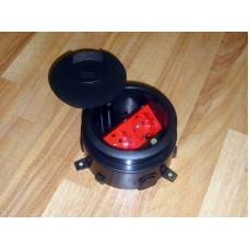 LUK/2 Люк в пол на 2 розетки (45х45 мм) с суппортом, пластик