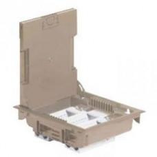 Напольная коробка с глубиной 75-105 мм 12 модулей - под покрытие - бежевый RA