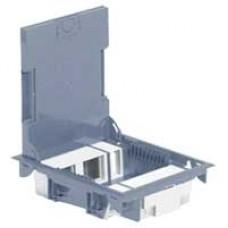 Напольная коробка с глубиной 75-105 мм 18 модулей -антикоррозийное покрытие -