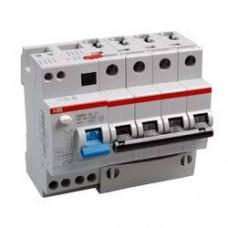 Дифференциальный автоматический выключатель ABB DS204 C6 0,03A трёхфазный