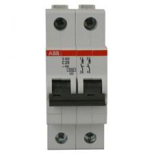 Электрический автомат защиты ABB S202 C6 двухполюсный однофазный