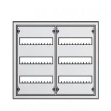 Щит металлический распределительный навесной АТ 32 Е АВВ (72 модуля) 524х574х140мм 2 ряда по 3 рейки