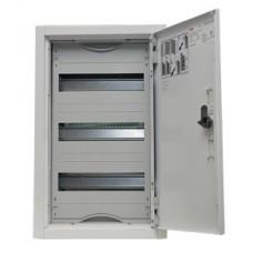 Щит металлический распределительный навесной АТ 31 Е АВВ (36 модуля) 524х324х140мм 1 ряда по 3 рейки