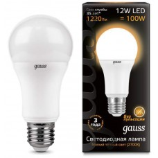 Лампа Gauss LED A60 globe 12W E27 2700K