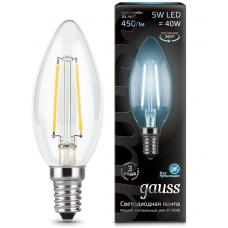 Лампа Gauss LED Filament Candle E14 5W 4100К
