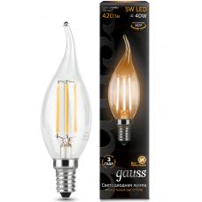Лампа Gauss LED Filament Candle tailed E14 5W 2700K