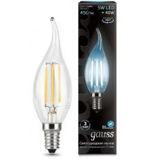 Лампа Gauss LED Filament Candle tailed E14 5W 4100K