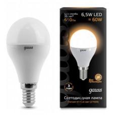 Лампа Gauss LED Globe E14 6.5W 2700K