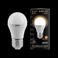 Лампа Gauss LED Globe E27 6.5W 2700K
