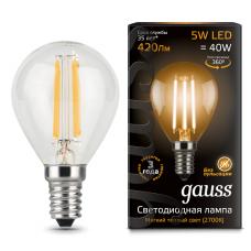 Лампа Gauss LED Filament Globe E14 5W 2700K