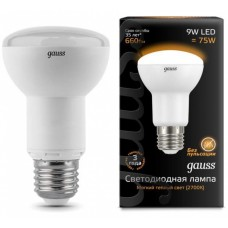 Лампа Gauss LED Reflector R63 E27 9W 2700K